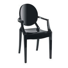 Kartell - Louis Ghost Chaise (Noir)
