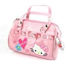 Girls Hello Kitty Pink Small Sized Hang Bag Glitter Glam High Fashion Embroidered Gift Present