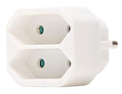 Kopp Euro Greengate GA 01/02 Adapter 2-fach, 250 V, arktis-weiß, 174102001