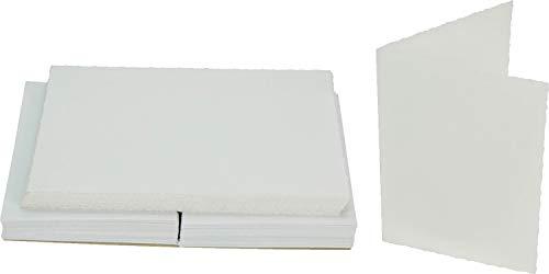 Paperwave Cascade 1 Fold Deckle C6 Card White Pk50 (Pack) Deckle Pack