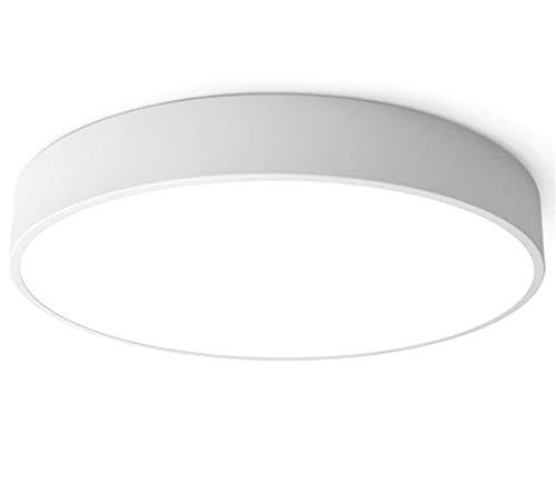 Deckenleuchte Led Wohnzimmer Weiss Deckenlampe Weiß Schlafzimmer Panel Rund Modern Lampe Für Küche Decke Leuchten Innen Flache Küchenlampen Eisen Schlafzimmerlampe (40CM, Dimmbar Mit Fernbedienung) -