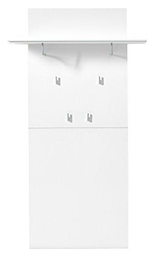 Stella Trading DOWW543040 Garderobe, Holz, weiß, 30 x 80 x 145 cm