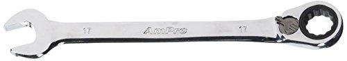 Ampro T41617 Clé Mixte à Cliquet Réversible, 17 mm