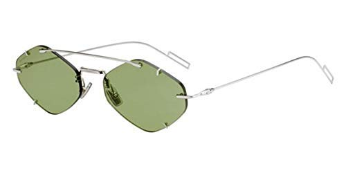 Christian Dior Herren Sonnenbrille Silber grün 57