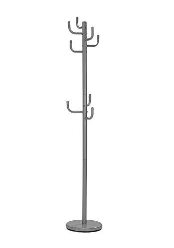 Meubletmoi Porte-Manteau Cactus en métal laqué 175cm avec 8 patères - Collection Groovy (Gris)