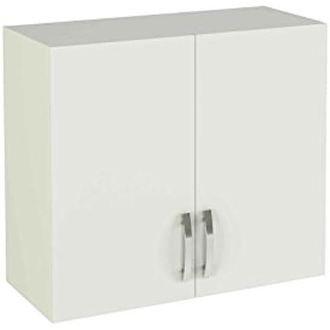 Meka-Block K-1407-BCO - Módulo alto de cocina con dos puertas, color blanco soft