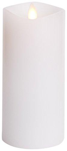 Luminara Flammenlose Kerze: 360Grad Top, geruchloses beweglicher Flamme Kerze mit Timer (15,2cm Weiß) (Flammenlose Kerzen Geruchlos)