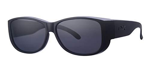 Fitsch Online UG Sonnenbrille für Brillenträger 100% UV CAT3 schwarz polarisierende Überbrille