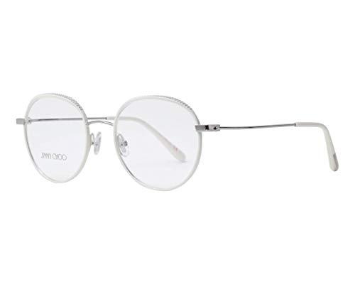 Jimmy Choo Damen JC168 OPY 50 Sonnenbrille, Weiß (White Silver),