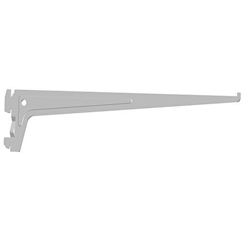 Element System 18133-00012 PRO-Träger Regalträger 1-reihig / 2 Stück / 7 Abmessungen / 3 Farben/L = 35 cm/weiß/für Regalsystem/Wandschiene