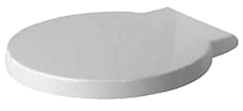 Preisvergleich Produktbild Duravit WC Sitz passt nur zu Starck 1 ohne SoftClose Scharniere edelstahl, weiß 65810000
