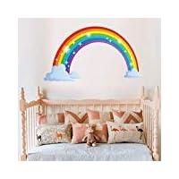 Bamsod Rainbow Wall Sticker Childrens Wall Decal Nursery Home Decor 27.5 x15.7inch