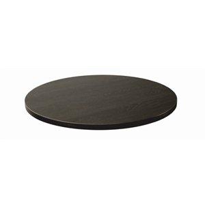 Lamidur gg291Top Eiche Finish Tisch rund, 680mm, schwarz braun (Runde Eiche Beistelltisch)