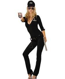 Hollywood Von Kostüm Frederick - Elegant Moments Damen Sexy FBI Agent - Schwarz - Small