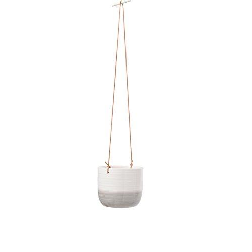 Burgon & Ball Keramik-Hängetopf Ripple D11cm weiß/grau