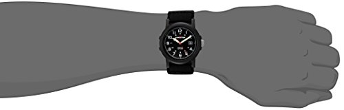 Image of Timex Men's T40011 Quartz Watch with Black Dial Analogue Display and Black Fast Wrap Strap