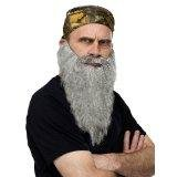 Fun World Duck Dynasty Bandana And Beard Grey Adult