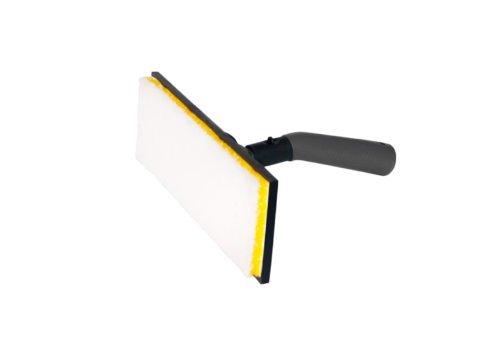 Gerät mit 22 cm, um Öllack oder Öl auf Holzfußböden aufzutragen. Mit Aluminium-Verlängerung 130 cm.