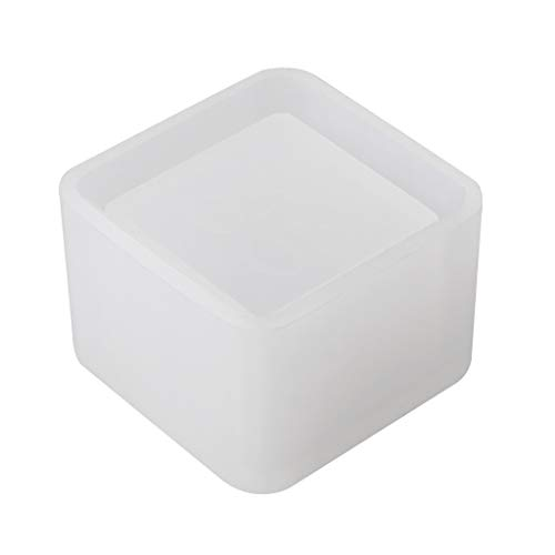 Yunso Quadratische Kleine Blumentopf Silikonform Aufbewahrungsbox DIY Handgemachte Herstellung Handwerk Crystal Epoxy Mold