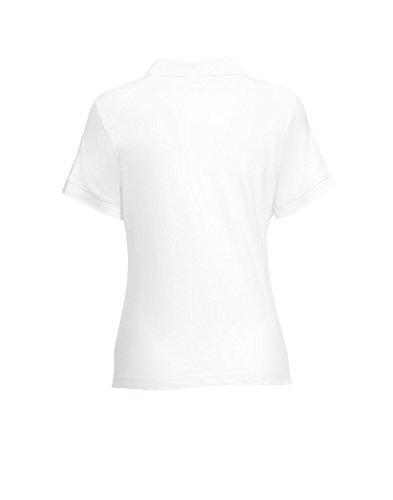 Camicia Polo Donna taglio femminile figura-abbracciare Poloshirt White