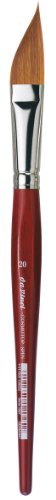 da Vinci Watercolor Series 5587 CosmoTop Spin Paint Brush, Slant Liner Synthetic with Red Handle, Size 20 (5587-20)