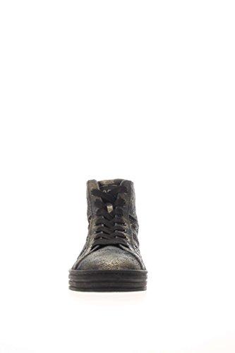 d3325011270a ... Hogan Rebel Damen Sneaker High hxw1410p991dweb999 High Sneakers r141  Pailletten Nero Oro ...