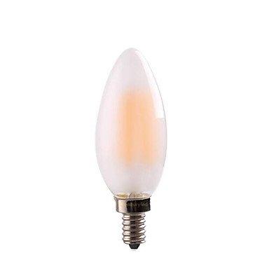 HZZymj-4W E14 E12 Bombillas de Filamento LED CA35 4 COB 400 lm Blanco Cálido Regulable AC 100-240 AC 110-130 V 2 piezas