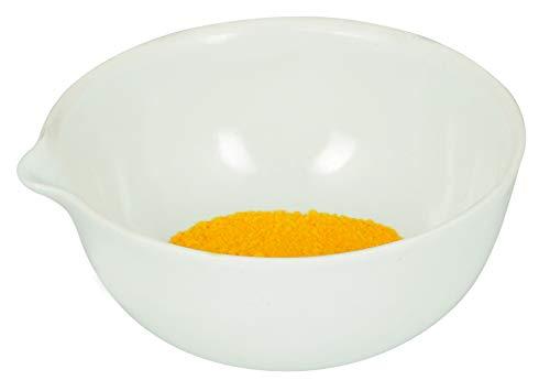Säure-salbe (175 ml Fassungsvermögen, runder Verdunstungsbehälter mit Ausguss, Porzellan, 10,9 cm Außendurchmesser, 4,7 cm hoch)