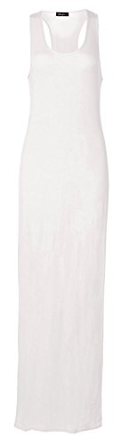 Fast Fashion - Robe Maxi Racer Des Muscles Du Dos Sans Manches - Femmes Blanc