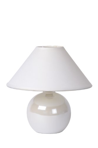 Lucide FARO - Lampe De Table - Ø 20 cm - Blanc