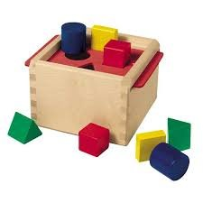 Bass & Bass B83254 - Cubo de Madera para clasificar Formas de bebé, Multicolor