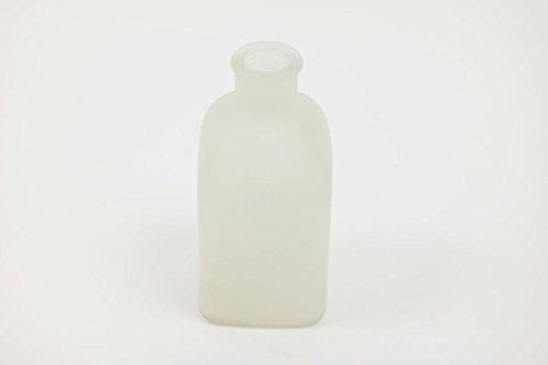INNA Glas - Eckige Glasvase KAYRA, matt weiß, 6 x 6 x 13,5 cm - Tischvase / Deko Vase