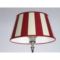 Abat-jour rond rouge/blanc à rayures 25 cm, art. lS - 222