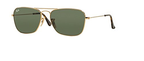 Ray-Ban RB3136 181 58M Gold/Dark Green+FREE Complimentary Eyewear Care Kit