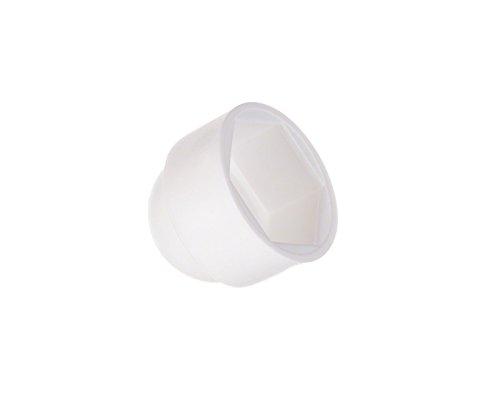 50 Stck. Schutzkappen für Schrauben 12 Weiß Schraubenkappen Stopfen Rohrkappen