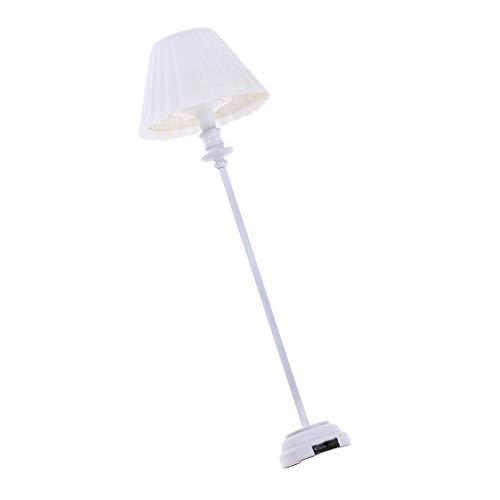 T TOOYFUL 1/12 Puppenhaus Miniatur LED Lampe Leuchte Beleuchtung Lichter Wohnzimmermöbel Schlafzimmer Zubehör - Stehlampe -
