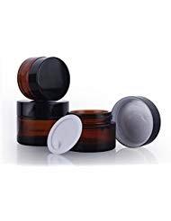 2 STÜCKE 50 ML Braunes Glas Make Up Gläser mit Liner und Schraube Schwarz CapFace Creme Lippenbalsam Vorratsbehälter für Schönheit Ätherische Öle Kosmetische Creme Lotion