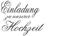 """Stempel """"Einladung zu unserer Hochzeit"""" D8027"""