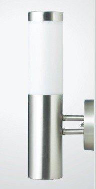Betterlighting BT1003A UP Außenwandleuchte, E27, silber, 7,8 x 14,5 x 36 cm