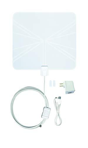 Winegard FlatWave Amped Digital HD Indoor Amplified TV Antenna with 50 Mile Long Range, 4K Ready/ATSC 3.0/High-VHF/UHF/Ultra-Thin/USB Power Supply