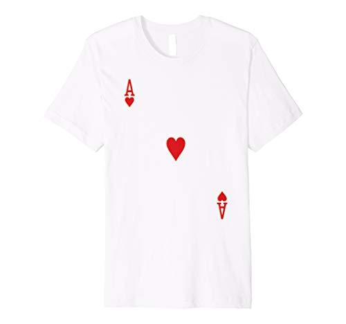 ACE OF HEARTS Halloween Spielkarte Kostüm T-Shirt