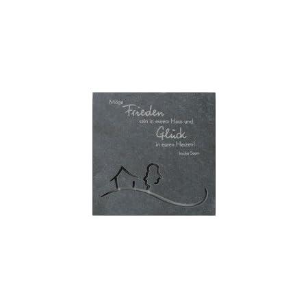 Butzon & Bercker Relief Frieden und Glück 14,5 x 14,5 cm Schiefer