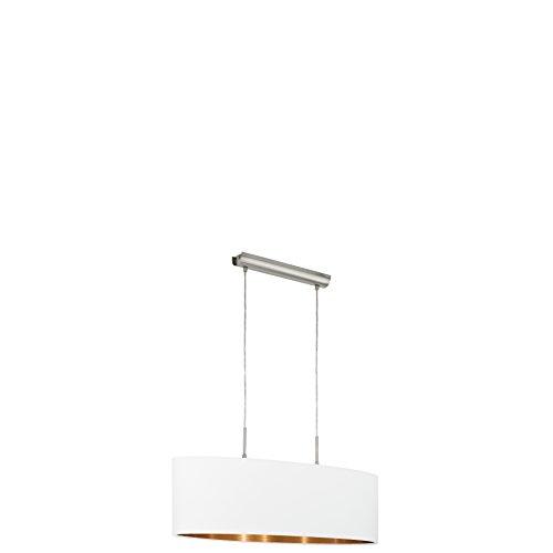 Design Hänge Lampe schwarz Textil Strahler weiß Pendel beige Decken Leuchte grau