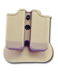 IMIIsrael Double Mag Pouch for 1911Single Stack Varianten, SIG Sauer 220, S & W 4506, 4516Desert Tan -