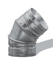 Simpson Duravent Gas Vent Adjustable Elbow 45 Degree 3 Galvanized Al Ul by DuraVent -