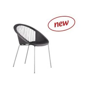 Idee Stühle aus Polycarbonat, Stühle aus Polypropylen 4, Sessel aus Polycarbonat, mit Struktur aus lackiertem Stahl und verzinkt, Packung für Vier Stück