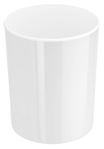 HAN Design-Papierkorb i-Line 18200-12 in Weiß – Eleganter & stylischer Papiereimer für das moderne Büro – Fassungsvermögen: 20 Liter