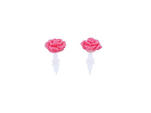 De-Cos Sailor Moon Super S Cosplay Accessory Sailor Jupiter Kino Makoto Pink Rose Earrings / Ear (Sailor Kostüm Jupiter)
