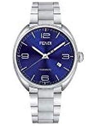 Fendi Momento Cadran Bleu Acier Inoxydable Montre Homme F203013000 4fd26ac099c