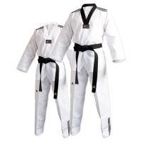 Adi Club Taekwondo Uniforme con Rayas, White v Neck